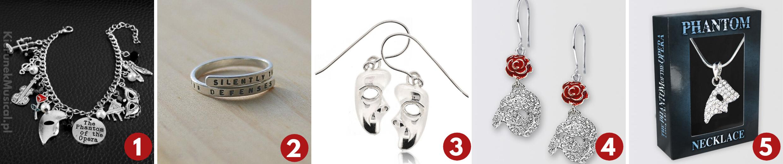 biżuteria dla fanów upiora w operze