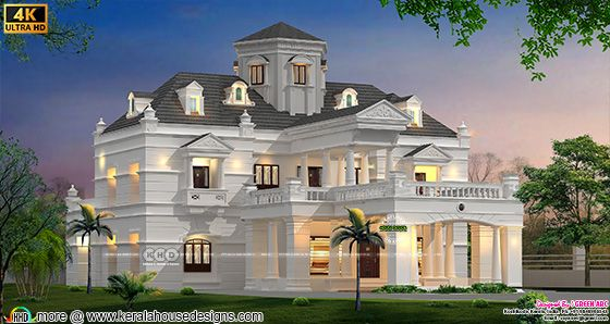 Rendering of Colonial style architecture