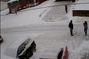 Dramatic video shows snow shoveling dispute that escalated to murder-suicide