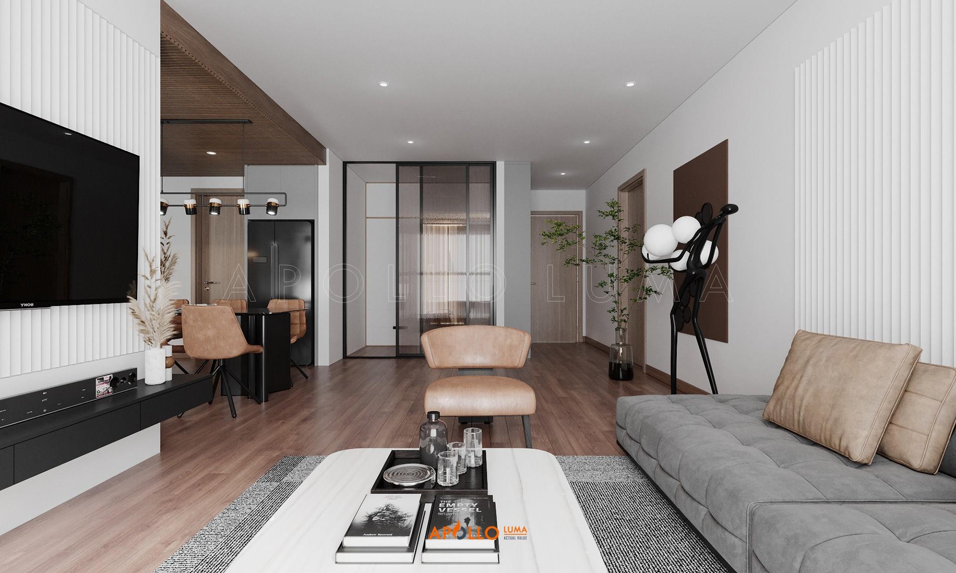 Thiết kế nội thất căn 3PN (103m2) The Emerald Mỹ Đình