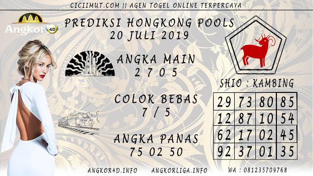 PREDIKSI HONGKONG POOLS 20 JULI 2019