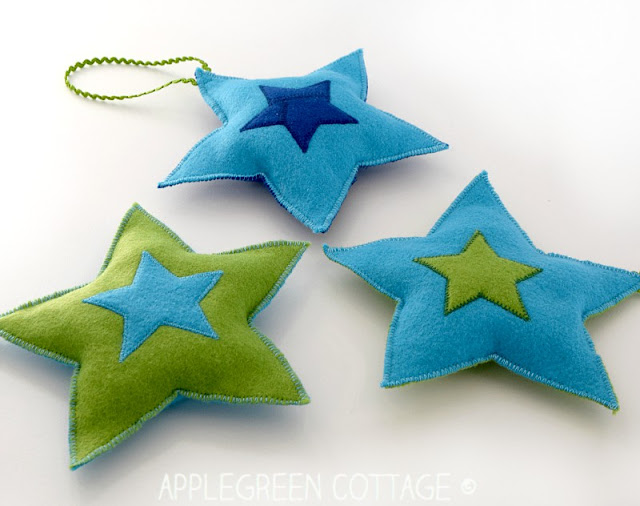 23 diy christmas felt star ornaments