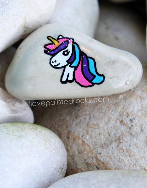 Unicorn rock painting #ilovepaintedrocks #rockpainting #paintedrocks #stonepainting #paintedstones #rockpaintingideas