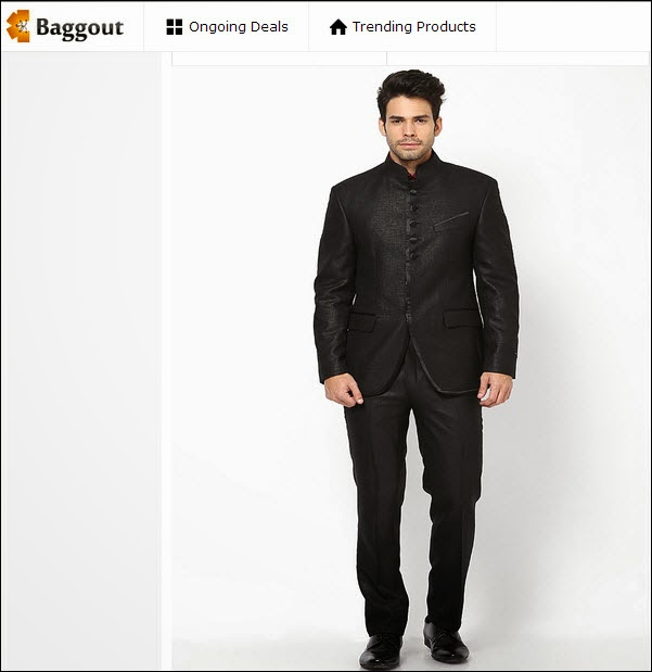 Black Solid Suit from Givo