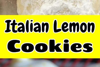 Italian Lemon Cookies