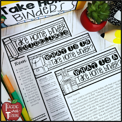 Take Home Binder Parent Notes