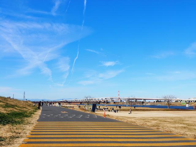 荒川自転車道 西新井橋