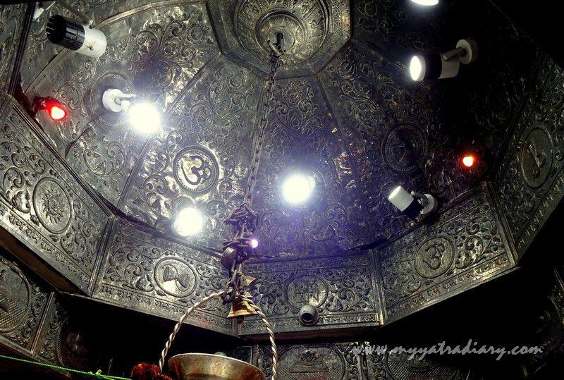 Ceiling of the sanctum sanctorum of the Anandeshwar Dham Kanpur, Uttar Pradesh