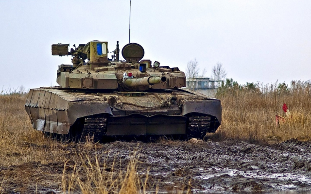 Image Attribute: T-84 Oplot at a undisclosed proving ground in Ukraine