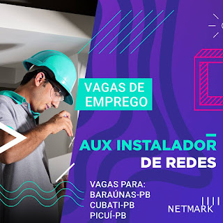 Empresa de internet abre vaga de emprego em Baraúna, Cubati e Picuí; confira