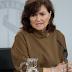 Carmen Calvo, ingresada en la Ruber de Madrid por una infección respiratoria