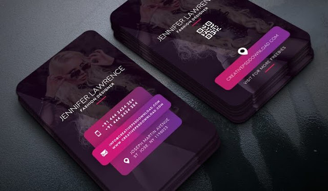 Free PSD business card for fashion designers