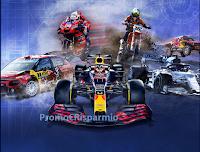 Logo Concorso Red Bull ''We Love Motorsports'' : vinci gratis 100 cappellini e non solo