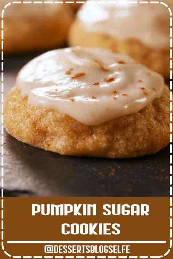 These pumpkin cookies are a little more cloud-like than your traditional chewy sugar cookie. But people could care less. If you don't have pumpkin spice, don't worry! We have a homemade hack for you. #DessertsBlogSelfe #FallDesserts #videos #cookies