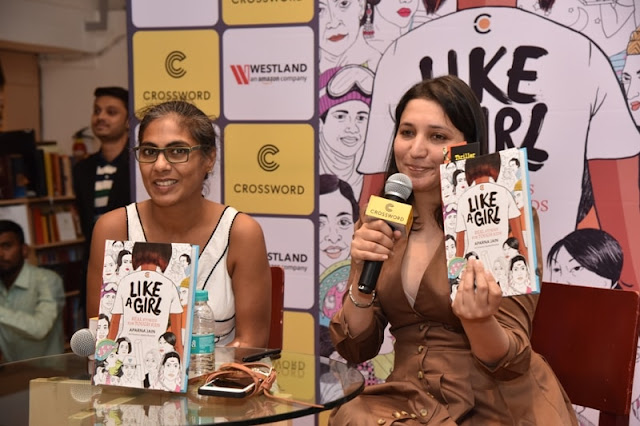 Author Aparna Jain & art director Ayesha Broacha at Crossword Bookstores Kemps Corner