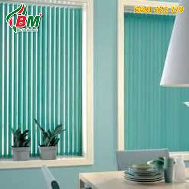 Màn sáo lá dọc màu xanh ngọc đẹp cho cửa sổ xinh văn phòng. cản nắng,đẹp, giá rẻ tại bình phước..by bình minh 0981.622.779