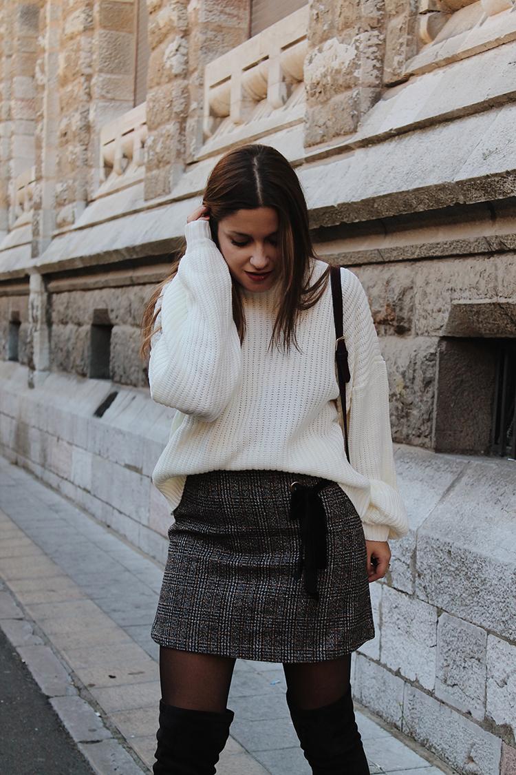 Outfit con falda de cuadros blog de moda