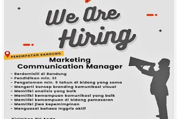 Lowongan Kerja Marketing Communication Manager
