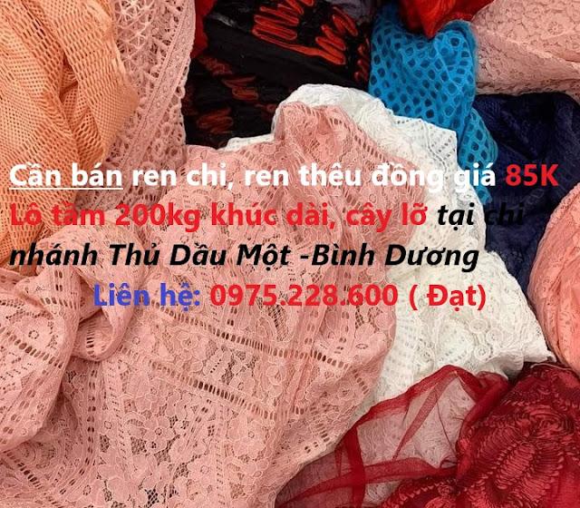 Vải Ren Tồn Kho Thanh Lý Giá 85K tại chi Nhánh Đồng Nai
