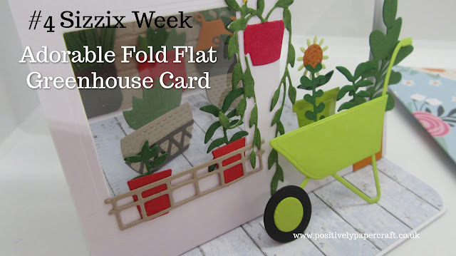 Fold flat greenhouse card