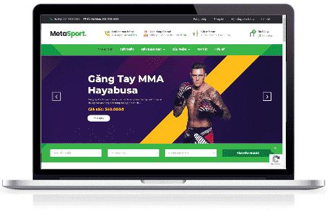 Giao diện blog bán hàng dụng cụ thể thao