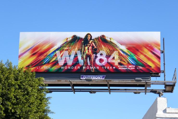 WW84 movie billboard