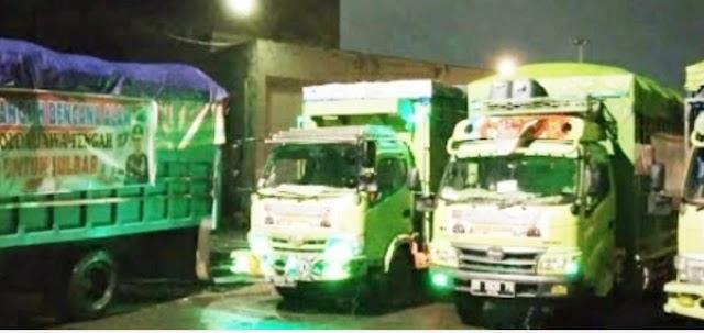 Polda Jateng Kirim 4 Truck Bantuan 3500 Bingkisan Untuk Gempa di Sulawesi Barat