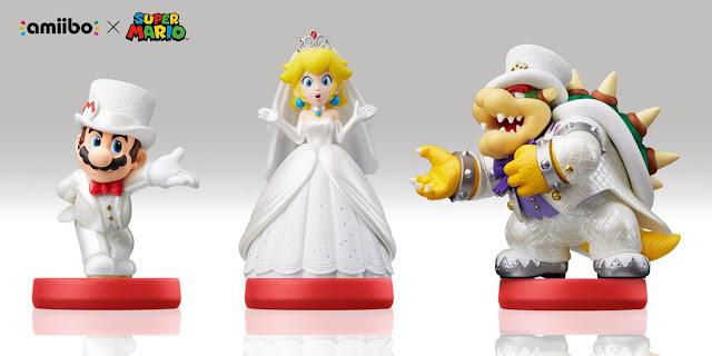 Super Mario Odyssey presenta amiibos de los trajes blancos
