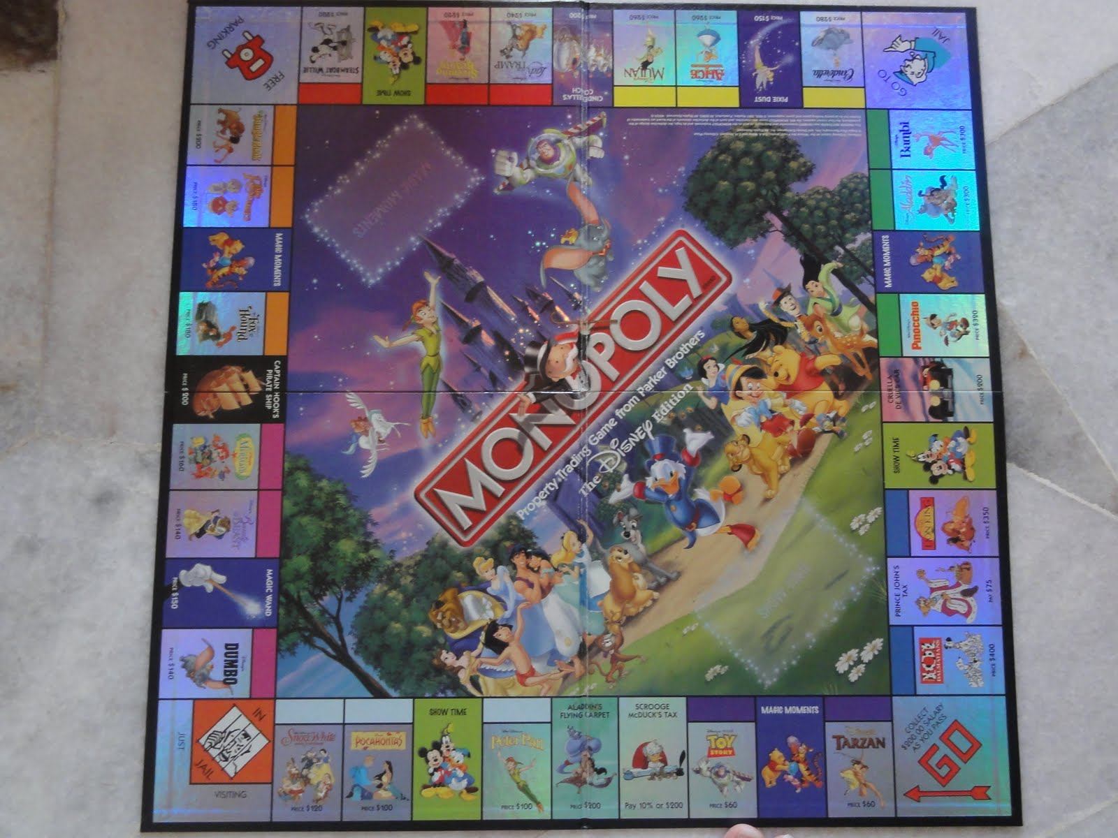 Monopoly disney edition 2001 replacement metal collectible movers.