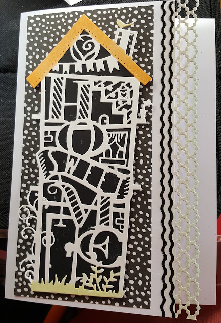 Home Sweet Home - black and white C5 card