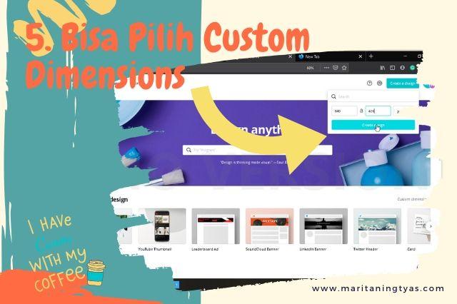 cara membuat infografis blog di canva bisa custom size