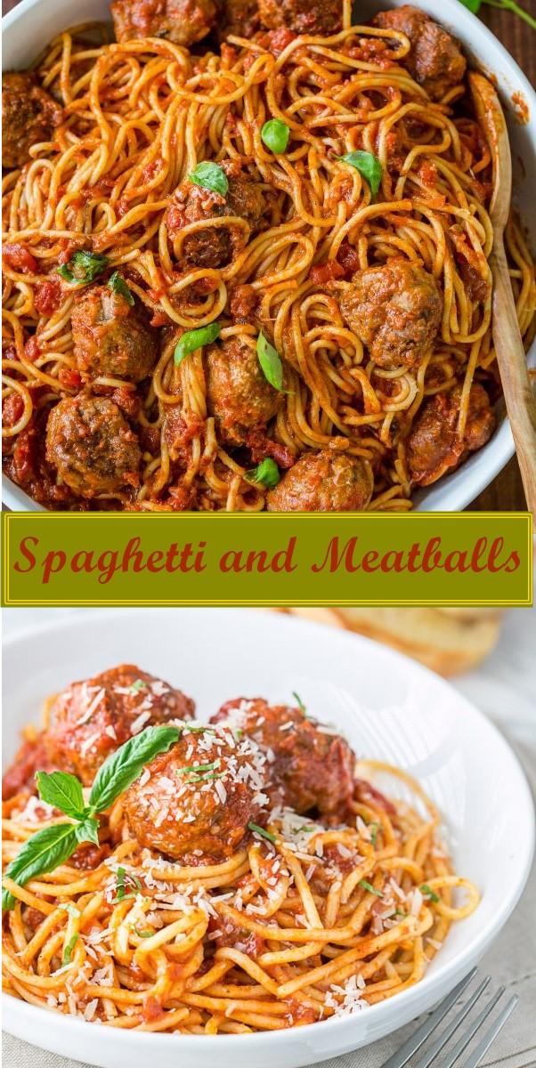 Spaghetti and Meatballs Recipe #pastarecipes