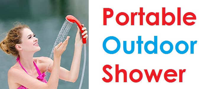 Ivation Battery Powered Portable Outdoor Shower