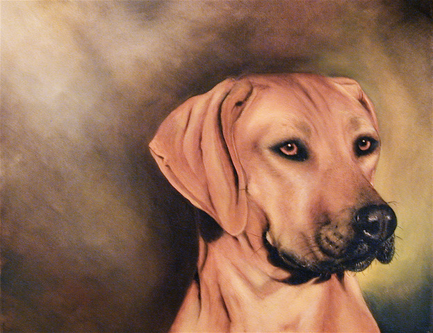 """Kinga I"" dog portrait by Pia Ledy"