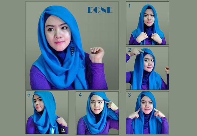 Cara Memakai Hijab Segi Empat Untuk Sehari-hari