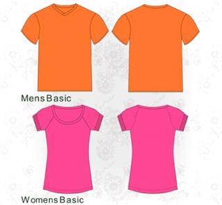 Download Template Kaos Polos Depan Belakang Coreldraw