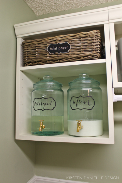 laundry room closet organization | our laundry closet makeover | Through the Front Door