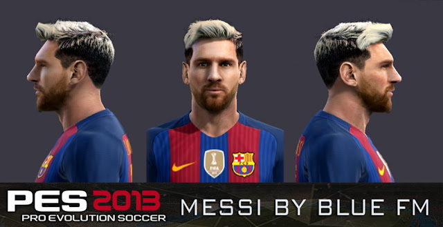 PES 2013 Lionel Messi New Face & Hair
