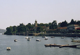 The town of Lesa on the shores of Lake Maggiore, which was once the home of novelist Alessandro Manzoni