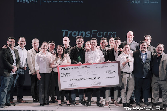 Impact Hackathon Grand Winner, Transfarm with the Final Juries