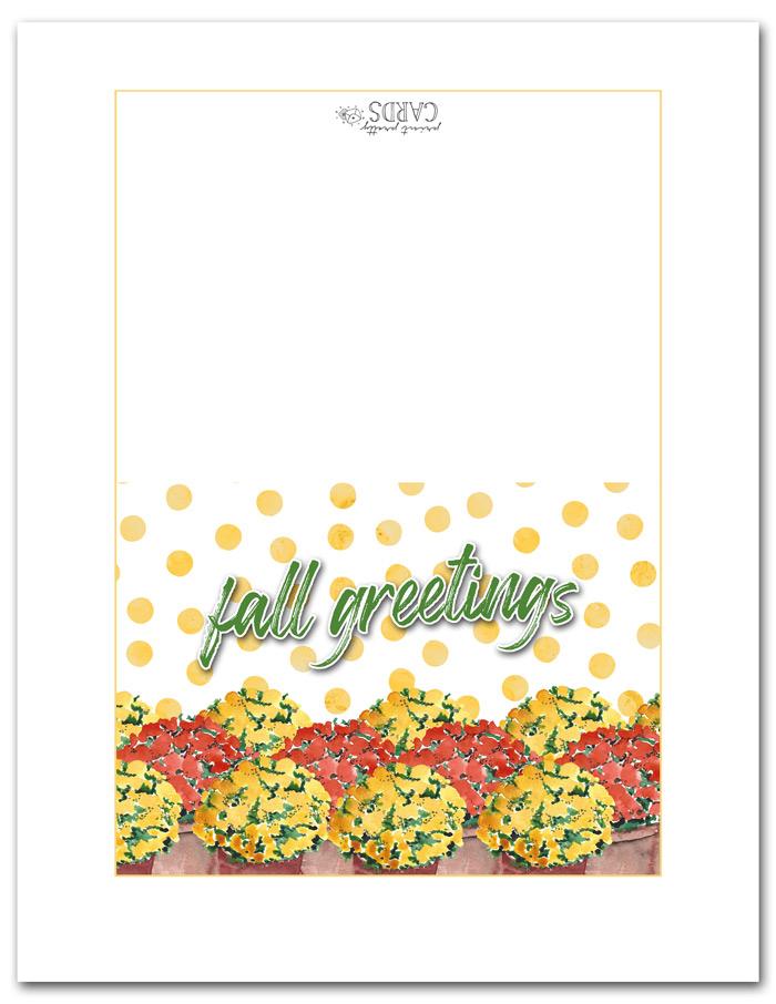 Printable Fall Greeting Cards