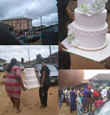 Wedding scatters as Bride slumps immediately jilted lady storms wedding venue