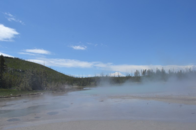 Yellowstone, Wyoming, usa, parc, norris geyser bassin