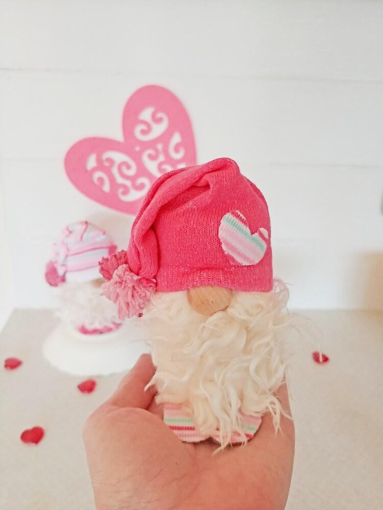 DIY Valentine Toilet Paper Tube Gnomes
