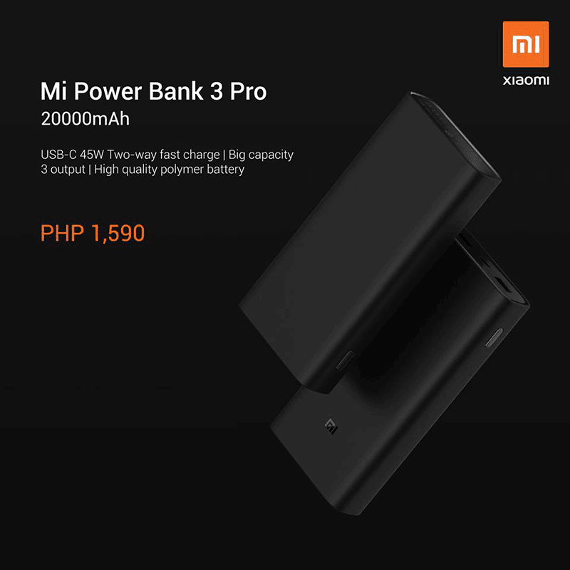 Xiaomi Mi Power Bank 3 Pro with 45W arrives in PH, can charge even laptops