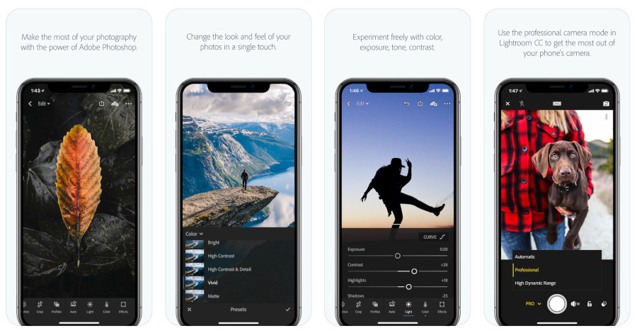 Adobe Lightroom CC per iPhone