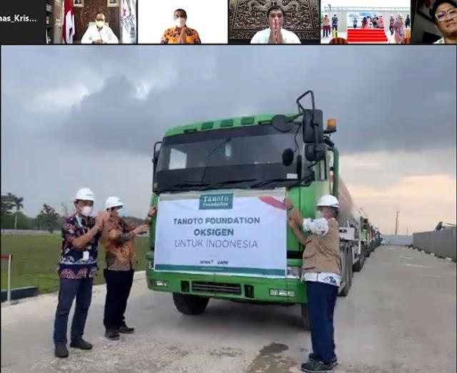 Menperin Apresiasi Tanoto Foundation Donasikan 500 Ton Oksigen Medis