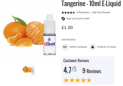 Tangerine flavour e-juice by LiQuid - cheapest juice online in the UK by onepoundeliquids