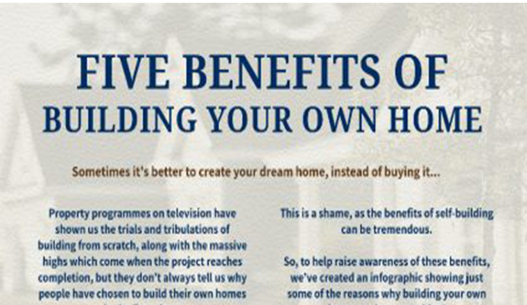 5 Benefits Of Building Your Own Home #infographic