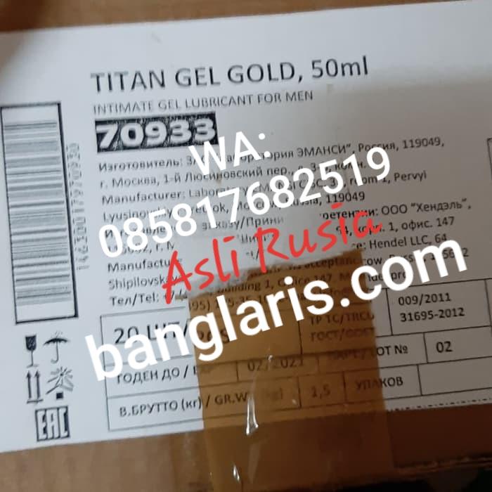 Titan gel asli dan palsu
